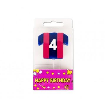 Vela Camiseta Azulgrana Nº4