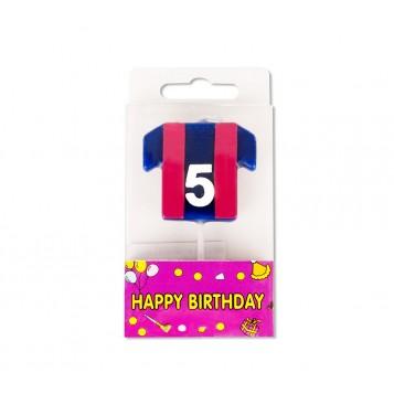 Vela Camiseta Azulgrana Nº5