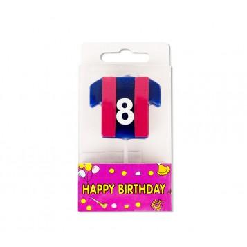 Vela Camiseta Azulgrana Nº8