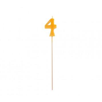 Vela Palillo Larga Color Nº4