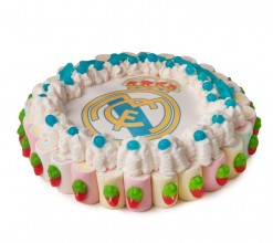 Tarta oblea Real Madrid