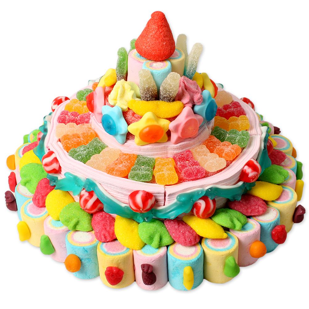 Tartas grandes tarta gominolas grande tarta chuches - Tartas de chuches fotos ...