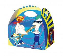 Caja Phineas y Ferb con chuches