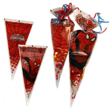Bolsa cono Spiderman con chuches