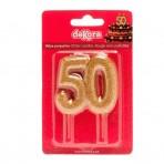 Vela 50 aniversario oro