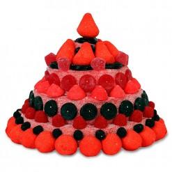 Tarta chuches rojas y negras