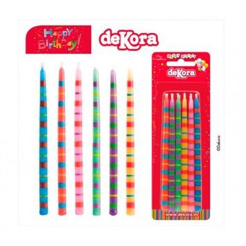 Velas de Colores - 12 unidades
