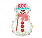 Tarta muñeco de nieve