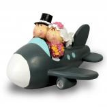 Figura Boda Novios Avión