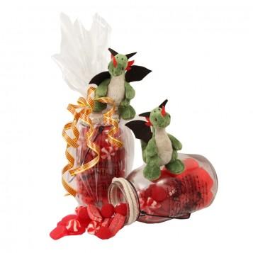 Peluche dragon con chuches
