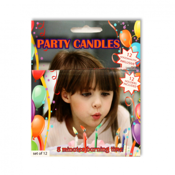 PARTY CANDLES Llamas de colores
