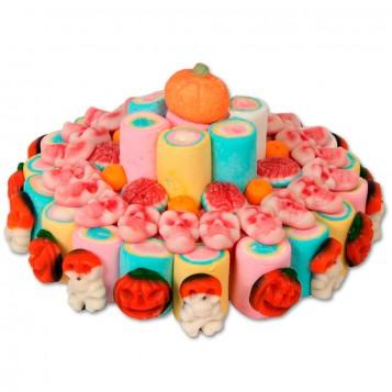 Tarta de chuches de Halloween