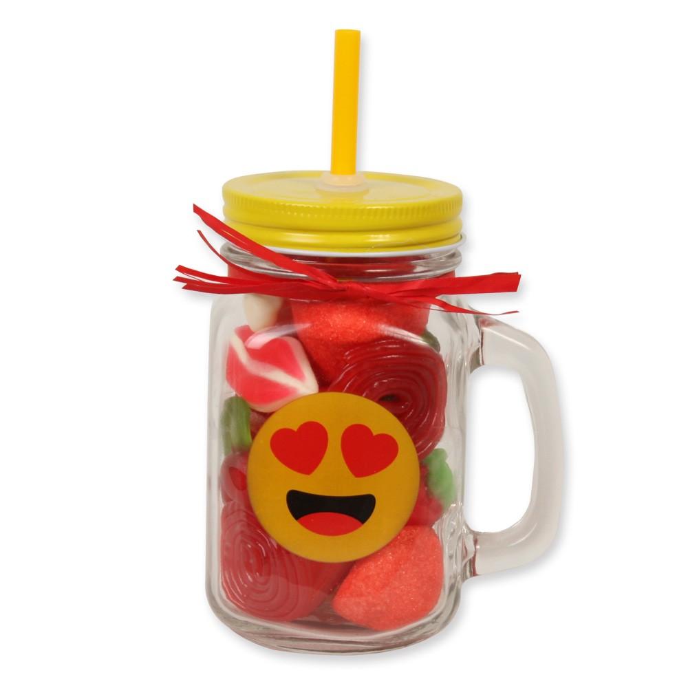 Tarro smoothie tarro smoothie emoji enamorado tartachuches - Tarro con pajita ...