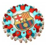 Tarta oblea Barça