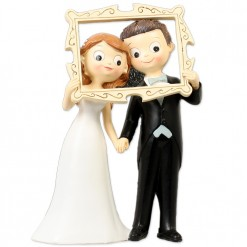 Figura boda novios marco foto