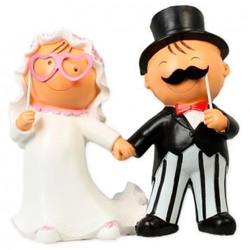 Figura boda novios photocall