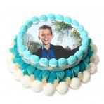 Tarta de chuches con foto personalizada