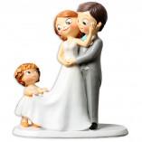 Figura boda novios con hija