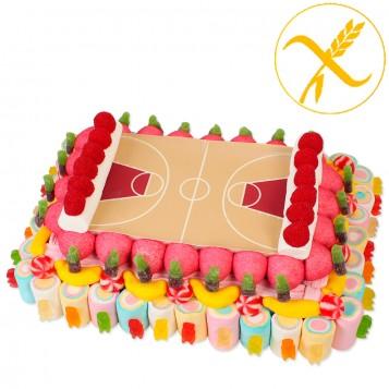 Tarta de chuches pista de basquet (Sin gluten)