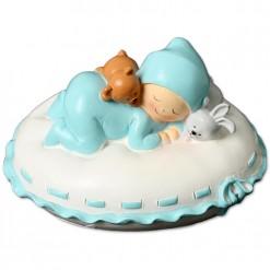 Figura bautizo bebé durmiendo
