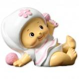 Figura bebé niña con sonajero