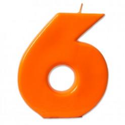Vela BIG naranja Nº 6