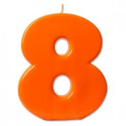 Vela BIG Naranja Nº8
