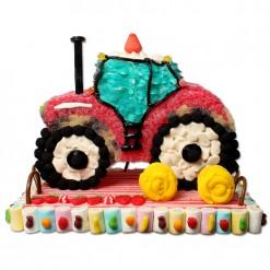 Tractor maxi rojo