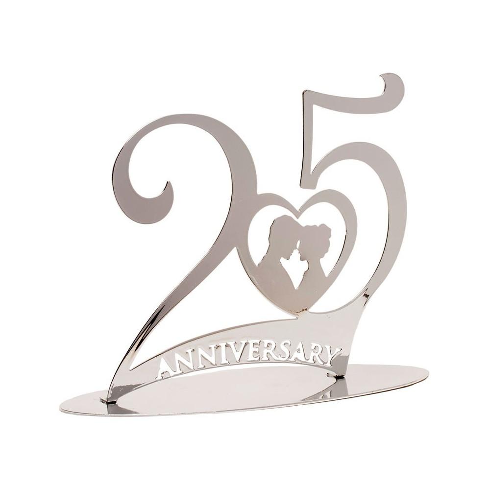 N mero 25 para tarta de bodas de plata - Marcos de plata para bodas ...