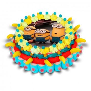 Tarta de chuches Minions
