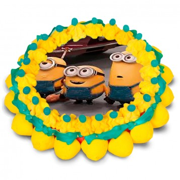 Tarta oblea Minions