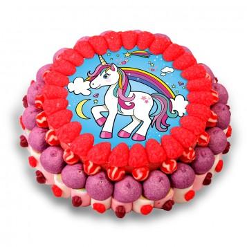 Tarta chuches unicornio