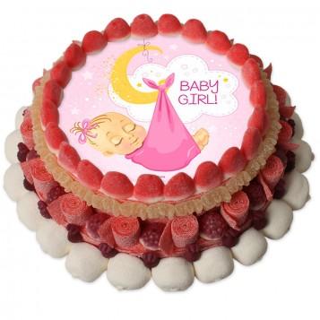 Tarta chuches Baby Girl